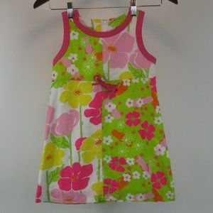 Lilly Pulitzer Sleeveless Floral Shift Dress 6X